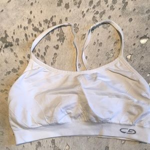 Champion sports bra with adjustable t-straps